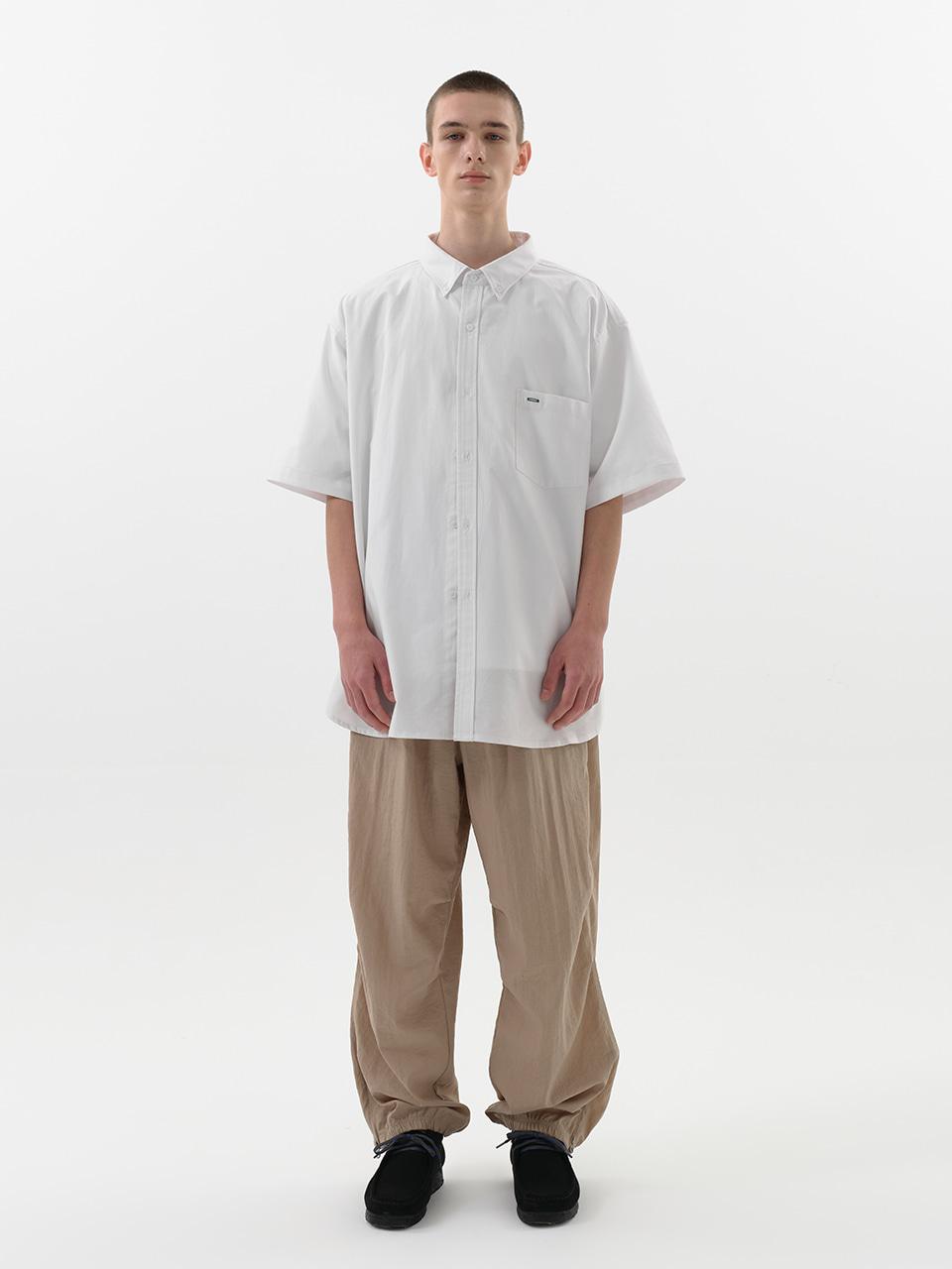 사운즈라이프(SOUNDSLIFE) [SM21 SOUNDSLIFE] Short Sleeve Shirt Big Boy Fit White